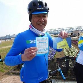 先日、GIANTショップになることを発表された細沼店長も、チラシを受け取ってくださいました。