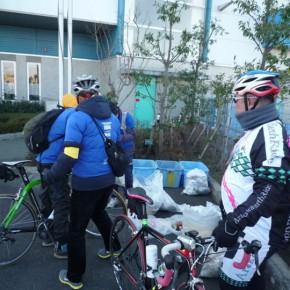 マラソン大会にサイクルボランティアで参加。