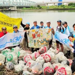 2015年9月27日(日)「荒川クリーンエイドフォーラム」と合同で河川敷清掃活動を実施しました。
