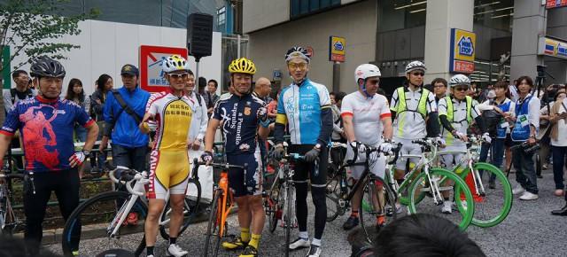 2016年6月5日(日)グッチャリ代表理事が、「TOJ(ツアーオブジャパン)」の東京ステージ、日比谷通りからのパレードスタートに参加しました。