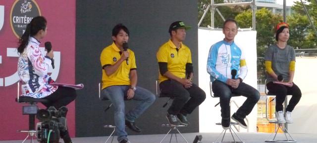 2016年10月29日(土)ツール・ド・フランスさいたまクリテリウム併催、「2016サイクルフェスタ」にて片山右京プロジェクトリーダーと代表理事の韓がイベントステージにて、トークショーを行いました。
