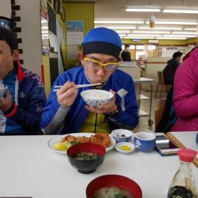 実は大食いな沖本さん。