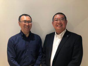 新理事に就任したふたり。(左:眞田、右:高橋)