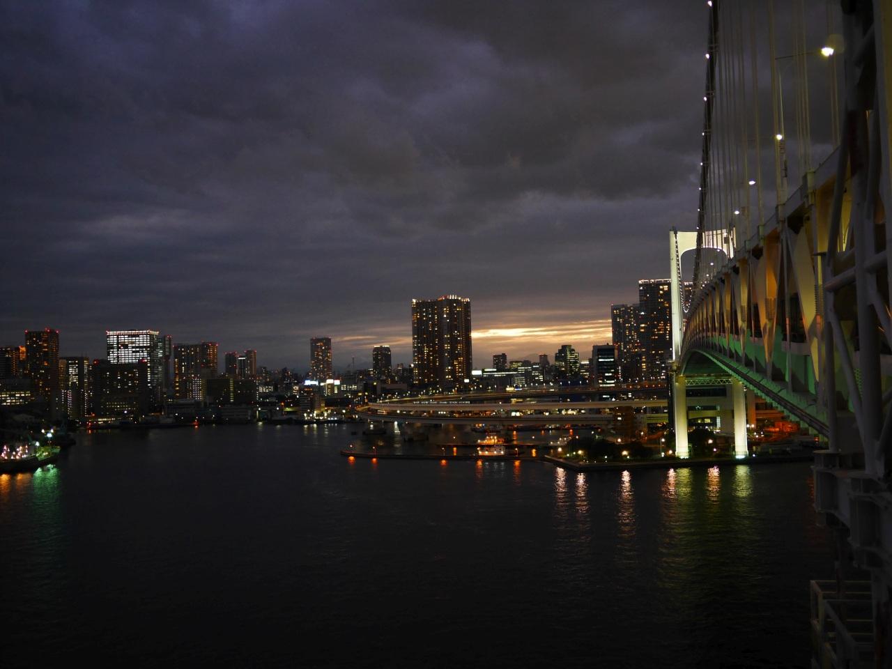 南側ルートから。お台場から、品川埠頭、大井ふ頭などの東京港を一望できます。